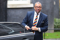 © Licensed to London News Pictures. 17/12/2019. London, UK. Minister without Portfolio James Cleverly arrives for the first meeting of the cabinet after the Conservatives won a majority in the 2019 General Election. Photo credit: Rob Pinney/LNP