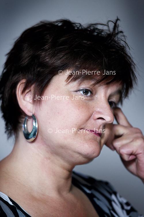 Nederland, Amsterdam , 23 mei 2013..Groen Links Lijsttrekkersdebat..Voor het eerst zal GroenLinks Amsterdam per referendum de lijsttrekker kiezen. Hij/zij zal de kandidatenlijst van GroenLinks voor de gemeenteraadsverkiezingen van 19 maart 2014 gaan aanvoeren..Op de foto kandidate Jenneke van Pijpen....Foto:Jean-Pierre Jans
