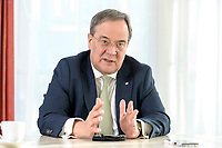 27 NOV 2020, BERLIN/GERMANY:<br /> Armin Laschet, CDU, Ministerpraesident Nordrhein-Westfalen, waehrend einem Interview, Landesvertretung Nordrhein-Westfalen<br /> IMAGE: 20201127-01-002