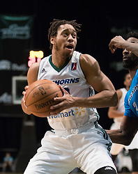 March 20, 2017 - Reno, Nevada, U.S - Reno Bighorn Guard ISAIAH COUSINS (10) during the NBA D-League Basketball game between the Reno Bighorns and the Texas Legends at the Reno Events Center in Reno, Nevada. (Credit Image: © Jeff Mulvihill via ZUMA Wire)