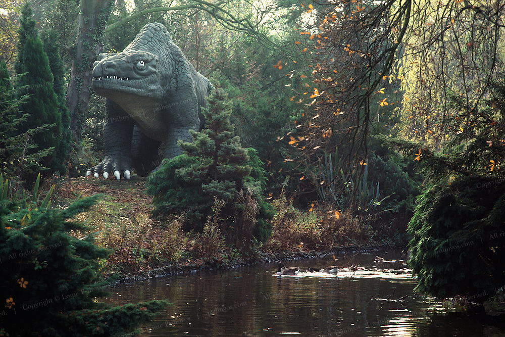 Despite Sir Richard Owen's handicap of only having fragmentary evidence of dinosaurs he envisioned them scaled up as giant lizards and had a dinosaur park at the Crystal Palace constructed.