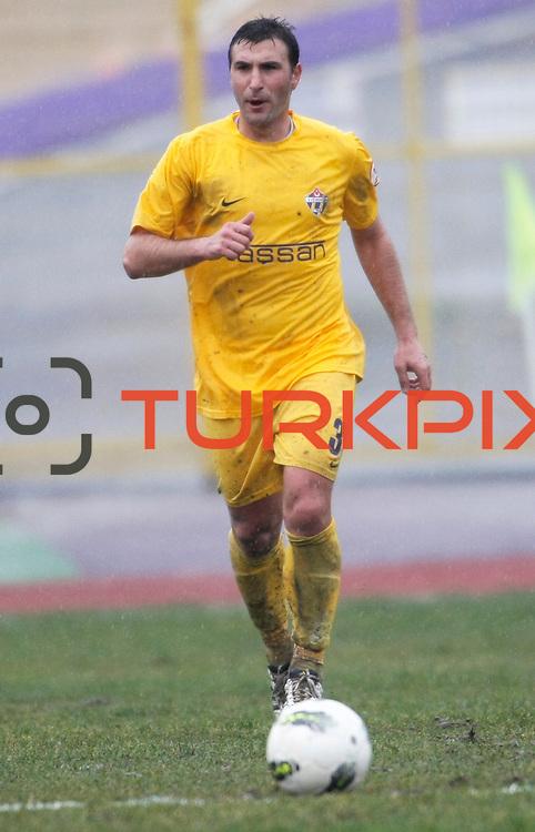 Eyupspor's Mustafa Cicek during their Turkey Cup matchday 3 soccer match Eyupspor between Eskisehirspor at Eyup Stadium in Istanbul Turkey on Wednesday, 11 January 2012. Photo by TURKPIX