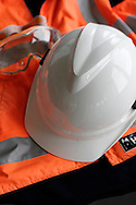 Safety clothing and helmet.<br /> <br /> For larger JPEGs and TIFF Contact EFFECTIVE WORKING IMAGE via our contact page at : www.photography4business.com