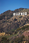 The Hollywood sign from Griffith Observatory, Los Angeles, California.