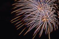 Fireworks light the night sky, Annapolis, Maryland, USA