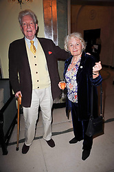 PAUL JOHNSON and his wife MARION at a party to celebrate the publiction of 'No Invitation Required' by Annabel Goldsmith, held at Claridge's, Brook Street, London on 11th November 2009.