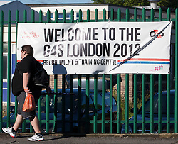 © Licensed to London News Pictures. 12/07/12.Stratford. UK. The G4S 2012 Training and Recruitment Centre for the London Olympic Games. Photo credit : Photographers Andrew Baker/LNP