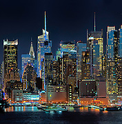 Detail from Manhattan Skyline with Full Moon