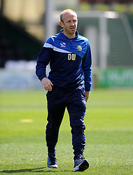 Yeovil Town's Coach Darren Way - Photo mandatory by-line: Harry Trump/JMP - Mobile: 07966 386802 - 11/04/15 - SPORT - FOOTBALL - Sky Bet League One - Yeovil Town v Notts County - Huish Park, Yeovil, England.