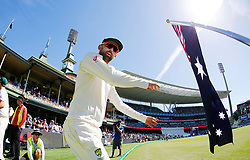 Australia's Nathan Lyon takes the field during day two of the Ashes Test match at Sydney Cricket Ground.