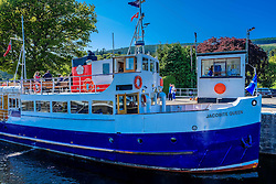 The 'Jacobite Queen' in the lock on the Caledonian Canal at Dochgarroch, near Inverness<br /> <br /> (c) Andrew Wilson | Edinburgh Elite media