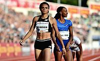 Friidrett , 13. juni 2019 , Bislett Games , Diamond League ,<br /> <br /> <br /> Sydney Mclaughlin , Dalilah Muhammad , 400 m hurdles