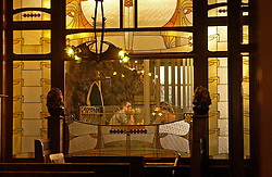 BRUSSELS, BELGIUM - MARCH-13-2003 - The ultimate architecture cafe is Ultieme Hallucinatie , decorated between 1887 and 1904 and features French and Scottish variations of Art Nouveau decor in seperate rooms. (PHOTO © JOCK FISTICK)
