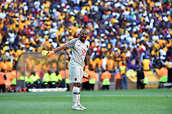 South Africa: Johannesburg: Kaizer Chiefs goalkeeper Itumeleng Khune gestures during the Soweto derby against Orlando Pirates for the Absa Premiership at FNB Stadium, Gauteng.<br />Picture: Itumeleng English/African News Agency (ANA)