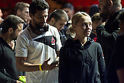 HOUSTON, TX - OCTOBER 2:  Rose Namajunas waits backstage before the UFC 192 weigh-in at the Toyota Center on October 2, 2015 in Houston, Texas. (Photo by Cooper Neill/Zuffa LLC/Zuffa LLC via Getty Images) *** Local Caption *** Rose Namajunas