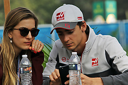 Esteban Gutierrez (MEX) Haas F1 Team with his girlfriend Monica Casan.<br /> 29.10.2016. Formula 1 World Championship, Rd 19, Mexican Grand Prix, Mexico City, Mexico, Qualifying Day.<br /> Copyright: Photo4 / XPB Images / action press