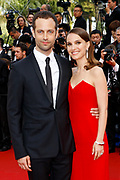 """Natalie Portman and Benjamin Millepied arrive for the screening of the film """"Standing Tall"""" (Tete Haute) during the opening ceremony of the 68th Cannes Film Festival in Cannes,  France, on May 13, 2015."""