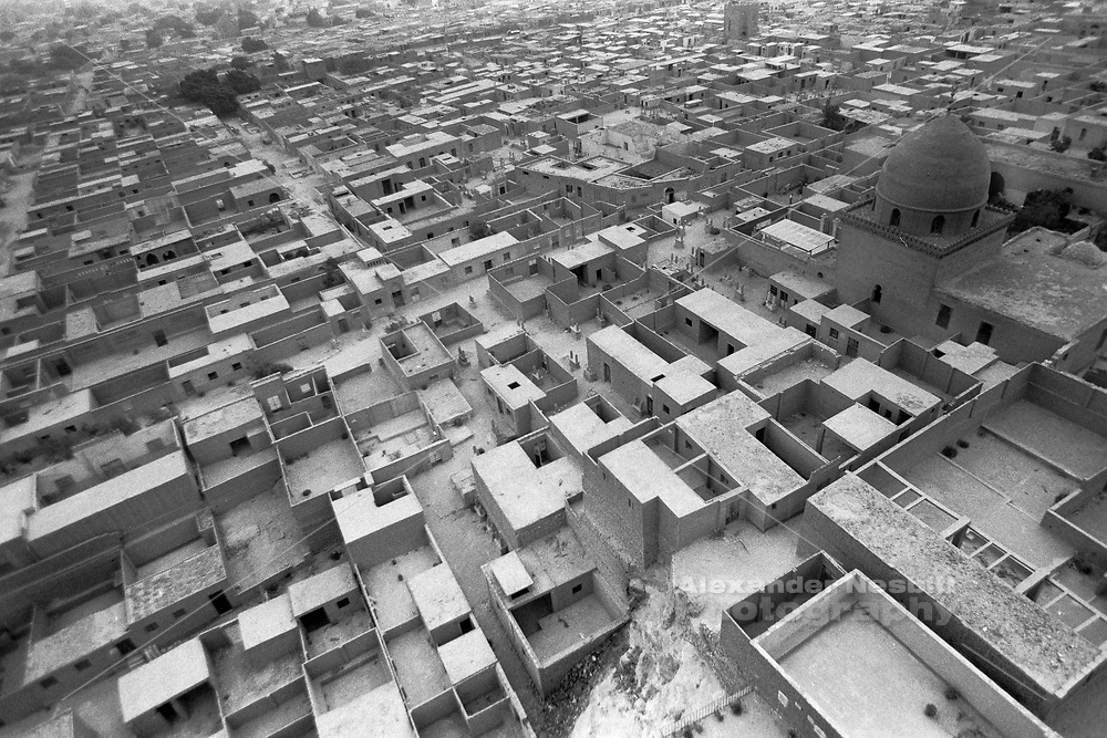 Cairo, Egypt, The City of the Dead, 2000 - overview of the southren cemetery from a ruined mosque on the Moquatam cliffs.