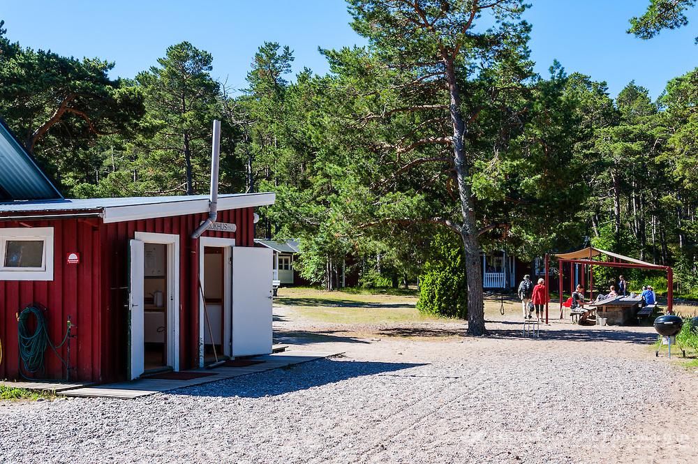 Sweden, Gotska Sandön national park. Camp site.
