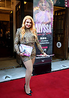 Cheryl Hole at the  'Alyssa, Memoirs of a Queen' gala performance, Vaudeville Theatre, The Strand, London, UK - 10 Jun 2021 photo by Roger Alarcon