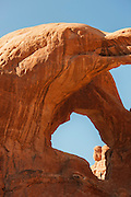 Double Arch, Wind sculpted archway, Arches National Park, Utah, United States of America