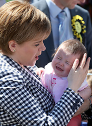 First Minister Nicola Sturgeon on a General Election campaign visit to Anstruther, Fife.