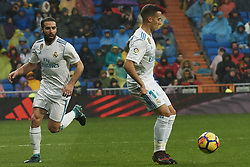 January 13, 2018 - Madrid, Spain - Lucas Vazquez (midfielder; Real Madrid), Daniel Carvajal (defender; Real Madrid) in action during La Liga match between Real Madrid and Villareal CF at Santiago Bernabeu on January 13, 2018 in Madrid (Credit Image: © Jack Abuin via ZUMA Wire)