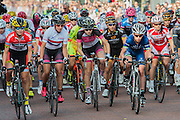 Laura Trott starts well in blue. The Womens Grand Prix - which is won by Barbara Guarischi. Prudential RideLondon a festival of cycling, with more than 95,000 cyclists, including some of the world's top professionals, participating in five separate events over the weekend of 1-2 August.