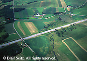 Aerial, Southwest PA, Turnpike and Farms, Bedford Co. Aerial Photograph Pennsylvania