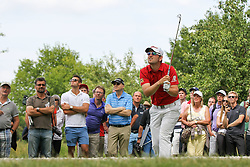 26.06.2015, Golfclub München Eichenried, Muenchen, GER, BMW International Golf Open, Tag 2, im Bild Bernd Wiesberger (AUT) schlaegt aus dem Rough // during day two of the BMW International Golf Open at the Golfclub München Eichenried in Muenchen, Germany on 2015/06/26. EXPA Pictures © 2015, PhotoCredit: EXPA/ Eibner-Pressefoto/ Kolbert<br /> <br /> *****ATTENTION - OUT of GER*****