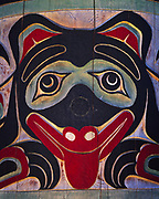 Portion of the Bear Pole at Cape Fox Lodge, carved by Lee Wallace and commissioned by the Cape Fox Corporation, Ketchian, Alaska.  Please Note: An extra licensing fee for use of this image will be collected for totem pole carver, Lee Wallace.