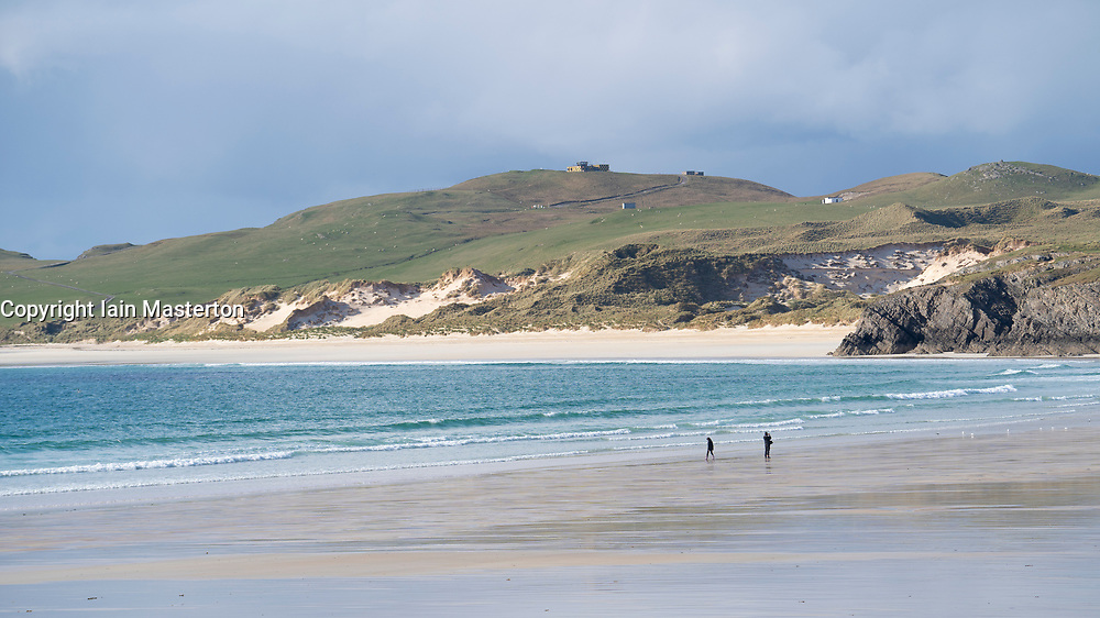 Beach at Durness on the North Coast 500 tourist motoring route in northern Scotland, UK