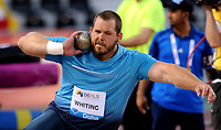 Friidrett<br /> IAAF Diamond League 2013<br /> Doha 10.05.2013<br /> Foto: imago/Digitalsport<br /> NORWAY ONLY<br /> <br /> Ryan Whiting of the United States competes during the men s shot put final at the IAAF Diamond League in Doha, capital of Qatar, May 10, 2013. Whiting claimed the title of the event with 22.28 metres.