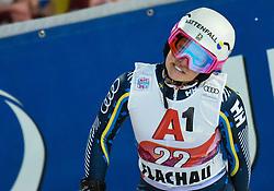 14.01.2020, Hermann Maier Weltcupstrecke, Flachau, AUT, FIS Weltcup Ski Alpin, Slalom, Damen, 2. Lauf, im Bild Magdalena Fjaellstroem (SWE) // Magdalena Fjaellstroem of Sweden reacts after her 2nd run of women's Slalom of FIS ski alpine world cup at the Hermann Maier Weltcupstrecke in Flachau, Austria on 2020/01/14. EXPA Pictures © 2020, PhotoCredit: EXPA/ Erich Spiess