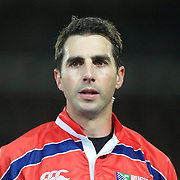 Referee Craig Joubert, South Africa,  in action during the New Zealand V France Final at the IRB Rugby World Cup tournament, Eden Park, Auckland, New Zealand. 23rd October 2011. Photo Tim Clayton...