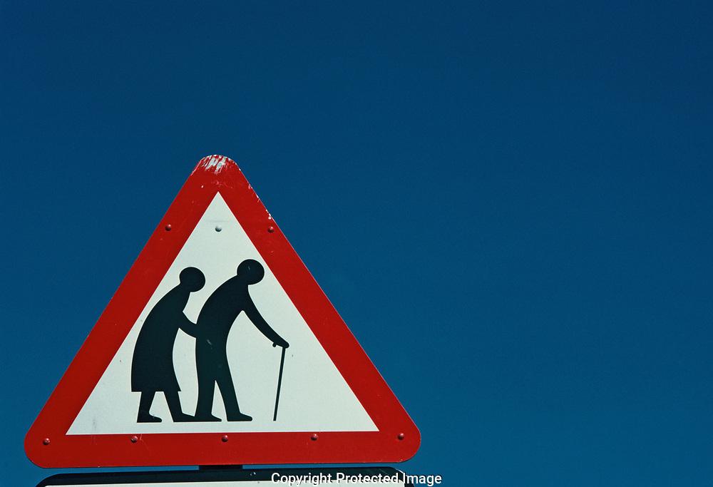 Elderly Crossing sign.<br />Photo by Dennis Brack