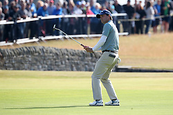 USA's Kevin Kisner on the 18th during day two of The Open Championship 2018 at Carnoustie Golf Links, Angus. PRESS ASSOCIATION Photo. Picture date: Friday July 20, 2018. See PA story GOLF Open. Photo credit should read: Jane Barlow/PA Wire. RESTRICTIONS: Editorial use only. No commercial use. Still image use only. The Open Championship logo and clear link to The Open website (TheOpen.com) to be included on website publishing.