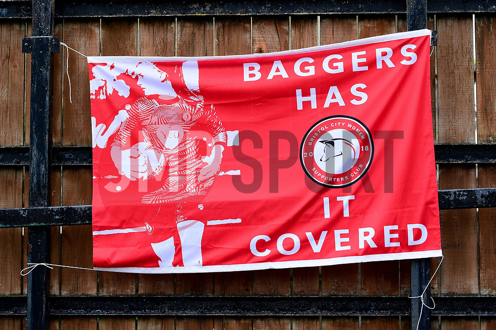 Bristol City Women Supporters Club banner - Mandatory by-line: Ryan Hiscott/JMP - 06/09/2020 - FOOTBALL - Twerton Park - Bath, England - Bristol City Women v Everton Ladies - FA Women's Super League