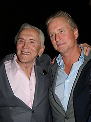 Kirk Douglas Dies At 103 - Kirk (L) and Michael Douglas attend the Friendly House 18th Annual Awards Luncheon honoring Anne Douglas as 'Woman of the Year', at the Beverly Hills Hotel in Los Angeles, CA, USA on October 20, 2007. Photo by APEGA/ABACAPRESS.COM