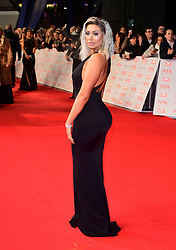 Chloe Ferry attending the National Television Awards 2018 held at the O2 Arena, London.