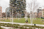 Milan, the park near Piazza Gae Aulenti, La Biblioteca degli alberi Park