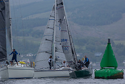 Day 2 Scottish Series, SAILING, Scotland.<br /> <br /> Class 3, Lady Ex, Extrovert 22, GBR6305C and  Farr E Nuf, Farr 727, GBR7029<br /> <br /> The Scottish Series, hosted by the Clyde Cruising Club is an annual series of races for sailing yachts held each spring. Normally held in Loch Fyne the event moved to three Clyde locations due to current restrictions. <br /> <br /> Light winds did not deter the racing taking place at East Patch, Inverkip and off Largs over the bank holiday weekend 28-30 May. <br /> <br /> Image Credit : Marc Turner / CCC