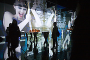 Visitors at a Dior exhibition in the Ullens Gallery in Beijing's 798 art district.