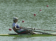 © Peter Spurrier/Sports Photo .email pictures@rowingpics.com tel +44 7973 819 551.Photo  Peter Spurrier.30/08/2003 Saturday.2003 World Rowing Championships, Idroscala. Milan, Italy.  {A Finals]   Gold medal winner  BUL W1X - Rumyana Neykova Milan. ITALY 2003 World Rowing Championships. Idro Scala Rowing Course. [Mandatory Credit: Peter Spurrier: Intersport Images.]