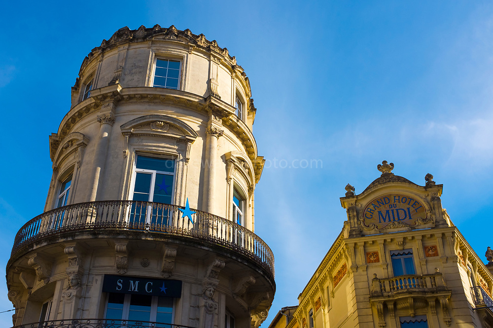 Grand Hotel de Midi, Place de la Comedie, the main square Montpellier, France