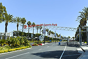 Avalon Boulevard Entrance to Dignity Health Sports Park, on Campus of Cal State Dominguez Hills