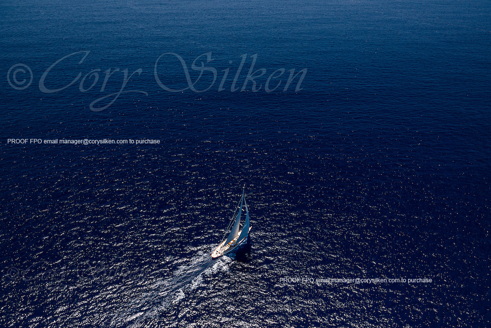 Wild Horses sailing in the Antigua Classic Yacht Regatta, Butterfly Race.