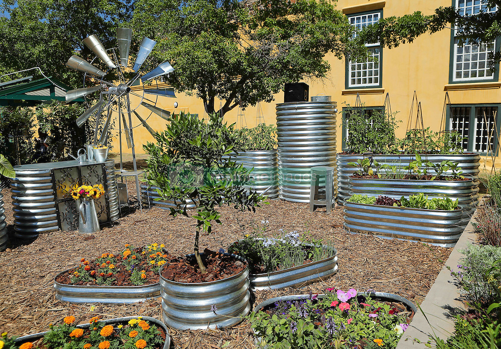 Rain Queen Garden  during the Cape Town Flower Show held at the Castle of Good Hope between the 27th and the 30th October 2016.<br /> <br /> Photo by Ron Gaunt/ RealTime Images