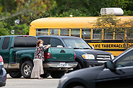 Sunday, March 29, 202, Congregant leaving the  Life Tabernacle Church after atteneding a service led by  Pastor Tony Spell  who defied Louisiana Gov. John Bel Edwards shelter-in-place order  despite the coronavirus Pandemic.