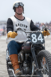 Rob Bowman (84) on his Harley-Davidson Knucklehead racer at TROG (The Race Of Gentlemen). Wildwood, NJ. USA. Saturday June 9, 2018. Photography ©2018 Michael Lichter.